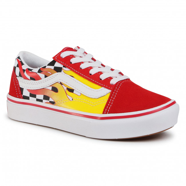 Tenisice VANS - Comfycush Old Sko VN0A4U1QXWC1 (Flame) Checkerboard/Red